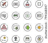 line vector icon set   plane... | Shutterstock .eps vector #794168347