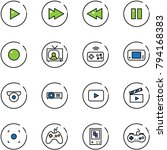 line vector icon set   play... | Shutterstock .eps vector #794168383