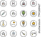 line vector icon set   tea... | Shutterstock .eps vector #794168467