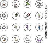 line vector icon set   baby... | Shutterstock .eps vector #794173117