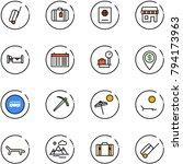 line vector icon set   suitcase ... | Shutterstock .eps vector #794173963