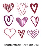 hand drawn doodle illustration  ... | Shutterstock .eps vector #794185243