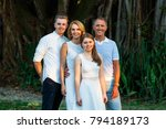 mother  father  son and... | Shutterstock . vector #794189173