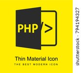 php bright yellow material...