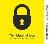 lock bright yellow material...