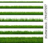grass border collection  vector ... | Shutterstock .eps vector #794197057