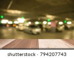 plank wooden table on front... | Shutterstock . vector #794207743