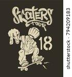skate rider t shirt graphics... | Shutterstock .eps vector #794209183