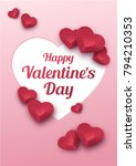happy valentines day greeting... | Shutterstock .eps vector #794210353