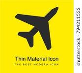 airplane flight bright yellow...