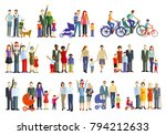 cheerful parent groups with... | Shutterstock . vector #794212633