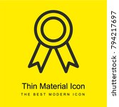 award badge bright yellow...