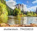 el capitan yosemite national... | Shutterstock . vector #794218213