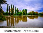 english park in tata  hungary | Shutterstock . vector #794218603