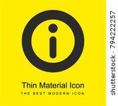 info round button bright yellow ...