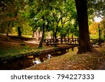 english park in tata  hungary | Shutterstock . vector #794227333