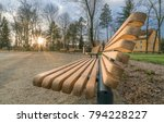 bench in the park | Shutterstock . vector #794228227