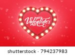 valentines day. banner for... | Shutterstock . vector #794237983