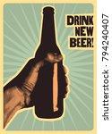 drink new beer  typographic... | Shutterstock .eps vector #794240407