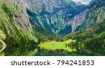 beautiful lake landscape in... | Shutterstock . vector #794241853