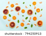 healthy food fruits pattern... | Shutterstock . vector #794250913