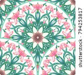 round patterns with pink...   Shutterstock .eps vector #794253817