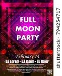 disco night party vector poster ...   Shutterstock .eps vector #794254717