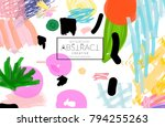 abstract universal art web... | Shutterstock .eps vector #794255263
