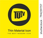 tu tv logo bright yellow...