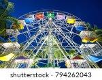 ferris wheel of amusement park | Shutterstock . vector #794262043