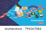 flate design concept promote...   Shutterstock .eps vector #794267083