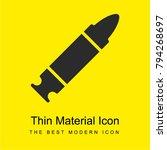 bullet bright yellow material...