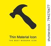 hammer bright yellow material...