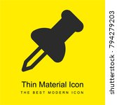 pin bright yellow material...
