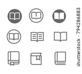 book line icon vector set ....