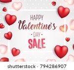 valentine's day sale background.... | Shutterstock .eps vector #794286907