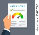 businessman hand holding credit ...   Shutterstock .eps vector #794292307