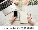wedding arrangement background. ... | Shutterstock . vector #794298907
