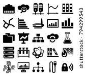data icons. set of 25 editable... | Shutterstock .eps vector #794299543