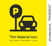 parking bright yellow material... | Shutterstock .eps vector #794300047
