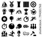 competition icons. set of 25... | Shutterstock .eps vector #794301763