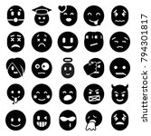 emotion icons. set of 25... | Shutterstock .eps vector #794301817