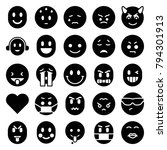 emotion icons. set of 25... | Shutterstock .eps vector #794301913