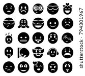 emotion icons. set of 25... | Shutterstock .eps vector #794301967