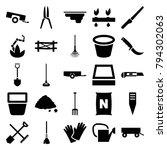 gardening icons. set of 25... | Shutterstock .eps vector #794302063