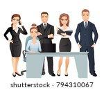 meeting business people.... | Shutterstock .eps vector #794310067
