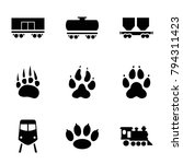 track icons. set of 9 editable... | Shutterstock .eps vector #794311423