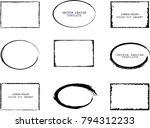 vector frames. rectangles ... | Shutterstock .eps vector #794312233
