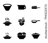 soup icons. set of 9 editable... | Shutterstock .eps vector #794323573