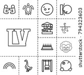 Happy Icons. Set Of 13 Editabl...